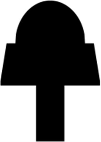 22 x 31 mm Fyr U/S 1-2 List. - Sprosse m/ 8 x 12 mm RD