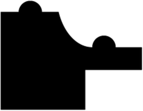 14 x 18 mm Fyr  (KL) - Rammeliste m/ 4,5 x 7 mm fals