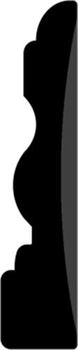 15 x 68 mm Hvidmalet Fyr List - Indfatning