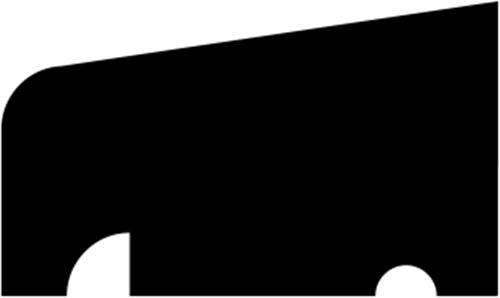 16 x 27 mm Eg (KL) - Glasliste m/ skygge
