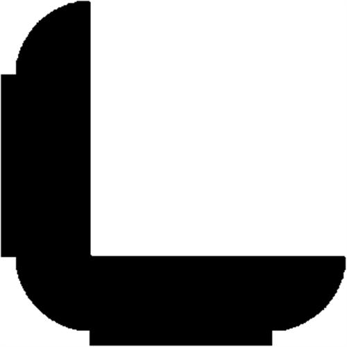 27 x 27 mm Fyr - Hjørneliste m/ profil. 20 x 20