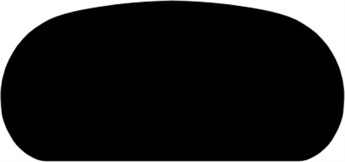 33 x 68 mm Eg - Håndløber