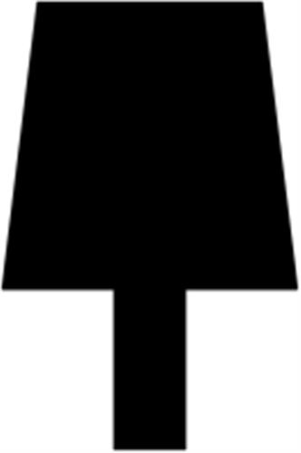 22 x 33 mm Fyr U/S 1-2 List. - Sprosse uden profil 8 x 12 mm