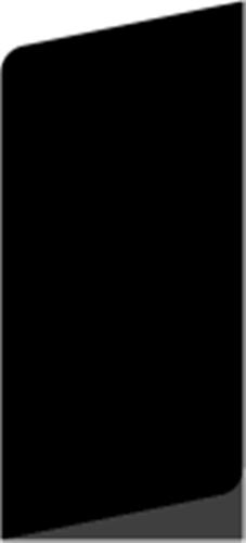 15 x 43 mm Hvidmalet Fyr List - Alm. glat fodpanel