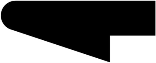 14 x 33 mm Fyr  (KL) - Rammeliste m/ ettal rund