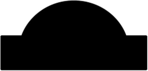 8 x 15 mm Fyr - Vægliste m/ halv staf midt