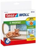 TESA E-PROFIL TÆTNINGSLISTE - 4X9MMX25M HVID GUMMI