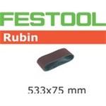 FESTOOL RUBIN SLIBEBÅND - P40 75X533MM PK/10 STK